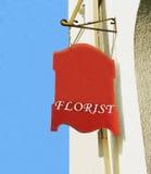 Signe de fleuriste. Photographie stock libre de droits