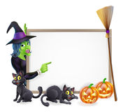 Signe de fond de sorcière de Halloween Photographie stock libre de droits