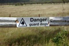 Signe de frontière de sécurité photos stock