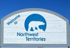Signe de frontière de Territoires du nord-ouest photo stock
