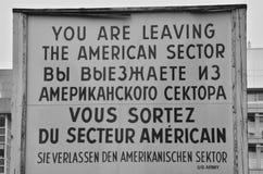 Signe de frontière Photos stock