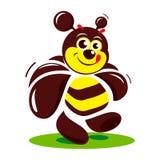signe de gâteau d'abeille de Doux-boutique Illustration Stock