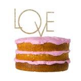 Signe de gâteau d'amour Image stock