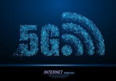 signe de 5G WiFi illustration libre de droits