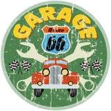 Signe de garage de Route 66 Photo stock