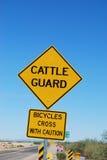 Signe de garde de bétail Image stock