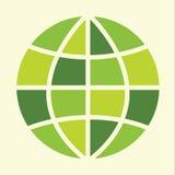 Signe de globe de vert d'Eco Photo libre de droits