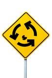 Signe de glorieta de rond point Image libre de droits