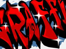 Signe de Graffitti Photo libre de droits