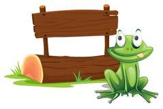 Signe de grenouille illustration libre de droits