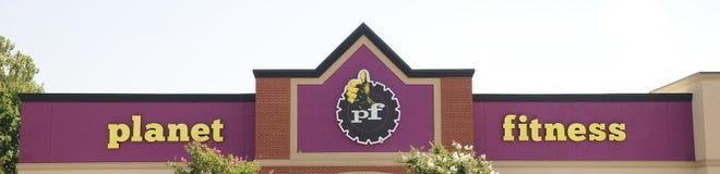 Signe de gymnase de forme physique de planète, Memphis TN Image libre de droits