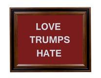 Signe de haine d'atouts d'amour Images libres de droits
