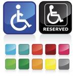 Signe de handicapés Images libres de droits