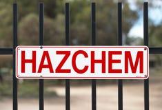 Signe de HAZCHEM Photographie stock