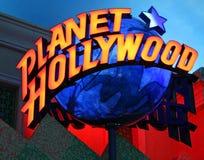 Signe de Hollywood de planète de Las Vegas Image libre de droits
