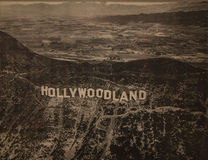 Signe de Hollywoodland - musée de Hollywood - Los Angeles Image libre de droits