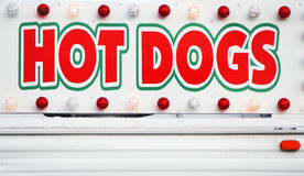 Signe de HOT-DOGS Photos libres de droits
