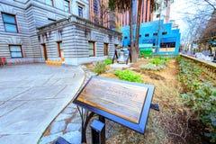 Signe de jardin à l'hôtel de ville de Portland Image stock