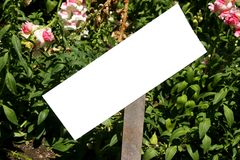 Signe de jardin vide Images stock
