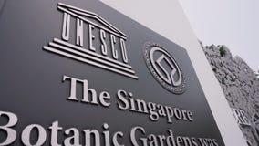 Signe de jardins botaniques de Singapour banque de vidéos