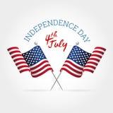 Signe de Jour de la Déclaration d'Indépendance Photos stock