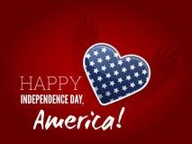 Signe de Jour de la Déclaration d'Indépendance Image libre de droits