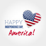 Signe de Jour de la Déclaration d'Indépendance Images stock