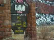 Signe de Kanab Utah photos libres de droits