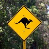 Signe de kangourou Image libre de droits