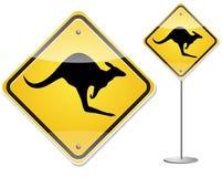 Signe de kangourou Photographie stock libre de droits