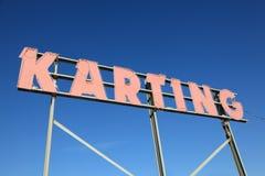 Signe de Karting photos stock