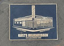 Signe de Katz Delicatessen, New York City images stock