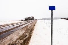 Signe de kilomètrage de route Photo libre de droits