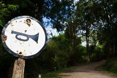 Signe de klaxon Images libres de droits