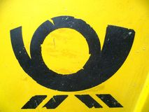 Signe de klaxon de poteau Photos libres de droits