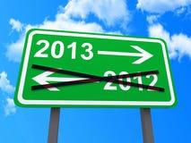 Signe de l'an 2013 Photographie stock libre de droits
