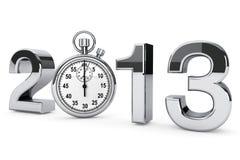 signe de l'acier 2013 avec le chronomètre Photographie stock libre de droits