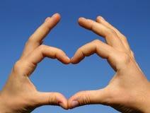 Signe de l'amour Photo libre de droits