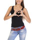 Signe de l'amour et de la gentillesse Photos libres de droits
