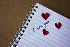 Signe de l'amour sur le papier Photographie stock