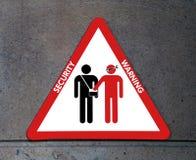 Signe de l'attention aux voleurs et aux pickpockets Images libres de droits
