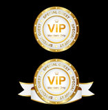 Signe de l'or blanc VIP Photographie stock libre de droits