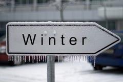Signe de l'hiver Photo libre de droits