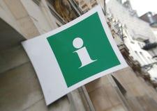 Signe de l'information Photos libres de droits