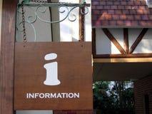 Signe de l'information photographie stock libre de droits