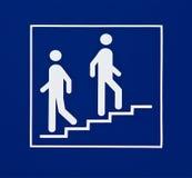 Signe de l'information affichant des escaliers Photo stock