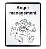 Signe de l'information de gestion de colère Photos stock