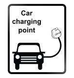 Signe de l'information de voiture électrique Images libres de droits