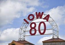 Signe de l'Iowa 80 Photos libres de droits
