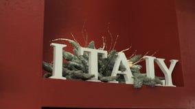 Signe de l'Italie et décoration de sapin de Noël clips vidéos